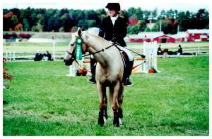 Carmel at the UNH horse trials in late 1990's
