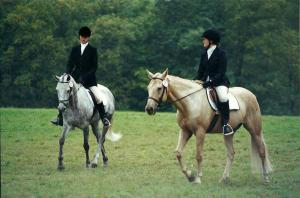 Carmel and I in warm up, late 1990's