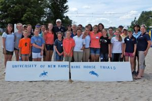The participants and auditors from the Daniel Stewart clinic at UNH July 2013.  Photo credit: Lauren Atherton Eventing