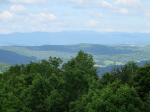 Yet another stunning vista in Vermont, looking towards Tunbridge.