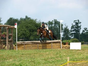 Anna over the first fence at Fitch's Corner 2013
