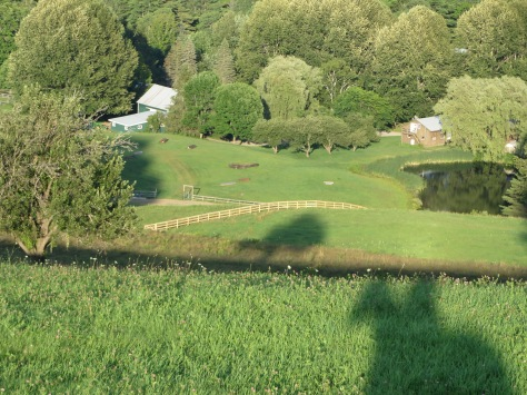 Looking down on the main farm from the top of the hill.