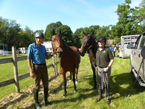 Denny and Roxie, Lee and I prior to completing the Hartland Riding Club ride in June.