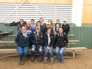 Students from the University of New Hampshire (UNH) Equine Program thoroughly enjoyed their visit to The Equestrian Center at Pineland Farms.