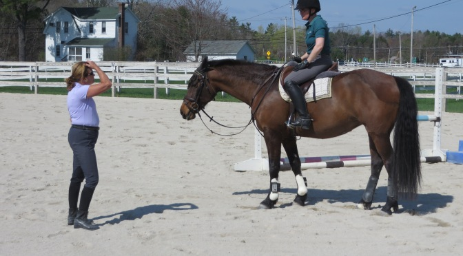 (Another) Clinic with Nancy Guyotte: Keeping your horse in front of the leg