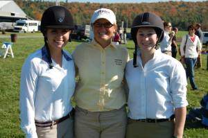 With members of the UNH IHSA team at a Vermont show.