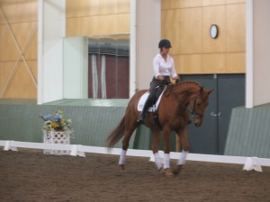 Doris Carlson worked with her Third Level mare on ascertaining tempo and creating choreography.