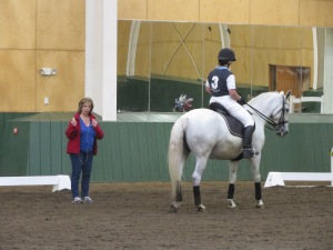 Gallo helped Cyndy West and her Lippizan mare create Intermediare choreography which would suit previously edited music from a lower level freestyle.